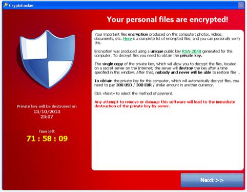 CryptoLocker Ransomware Social Engineering Attack