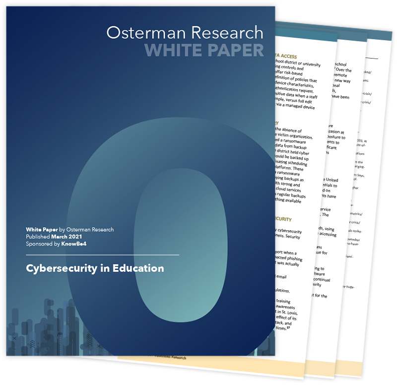 Whitepaper: Cybersecurity in Education