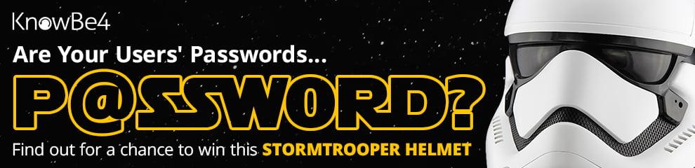 Weak Password Test Stormtrooper Sweepstakes